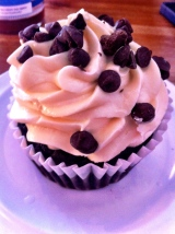 Best vegan cupcake I have ever had from Flore Cafe in Silver Lake.
