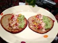 Homemade fish tacos.