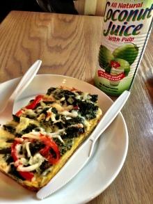 Lunch :: fritatta & coconut juice at Fraiche in Palo Alto.