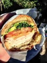A delicious turkey sandwich from Rhea's Deli in the Mission.