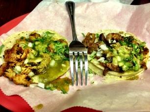 Tacos at Los Gallos Taqueria in Redwood City.